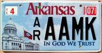 arkansas 2007 in god we trust