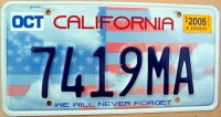 california 2005 we will never forget