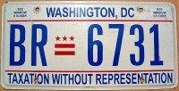 d.c.washington taxation without representation