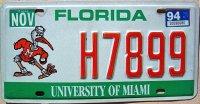 florida 1994 university of miami