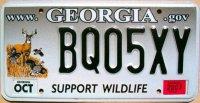 georgia 2007 support wildlife