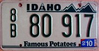 idaho 1992 famous potatoes
