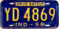 indiana 1958 drive safely