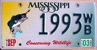 mississippi 2003 conserving wildlife.bass