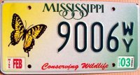 mississippi 2003 conserving wildlife.butterfly