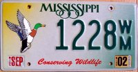 mississippi 2002 conserving wildlife.mallard duck