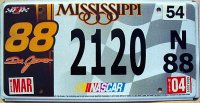 mississippi 2004 nascar dale jarett.88