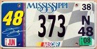 mississippi 2008 nascar jimmie johnson .48