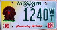mississippi 1999 conserving wildlife.turkey