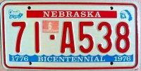 nebraska 1976 bicentennial