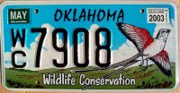 oklahoma 2003 wildlife conservation