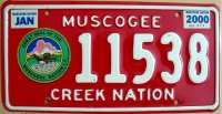 oklahoma 2000 muscogee creek nation