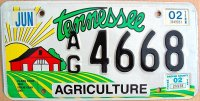 tennessee 2002 agriculture