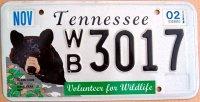 tennessee 2002 volunteer for wildlife