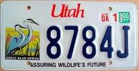 utah 1999 assuring wildlife`s future.great blue heron