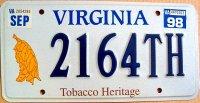 virginia 1998 tobacco heritage