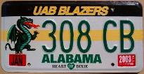 alabama 2003 UAB blazers