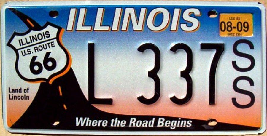 Plaque d/'immatriculation américaine ILLINOIS Chicago Bulls